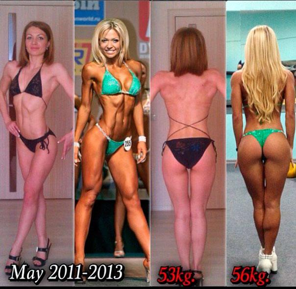 сушка тела до и после:
