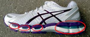 Амортизация подошвы кроссовок
