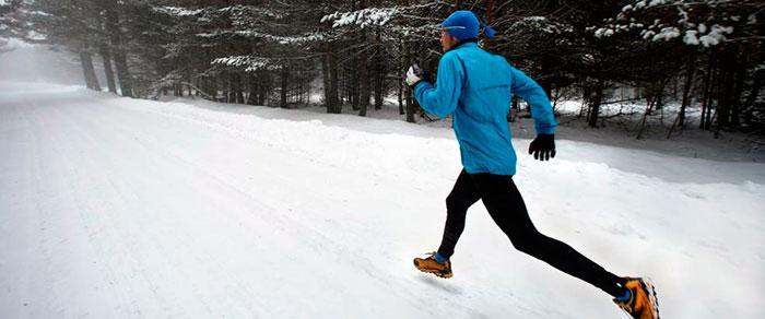 Пробежка в зимнюю пору года