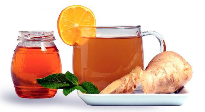 Имбирь, чай и мед