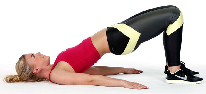 Подъем таза для укрепления спины