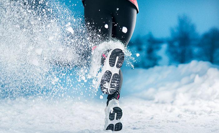 Пробежка на снегу