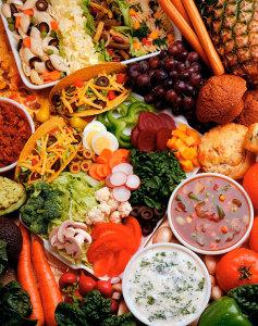 Разные продукты для здорового питания