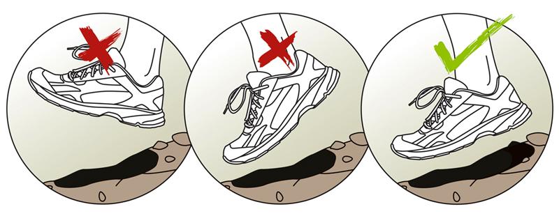 Как правильно ставить ногу при беге