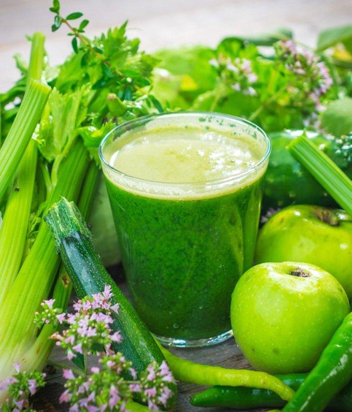 Фруктово овощной смузи для похудения