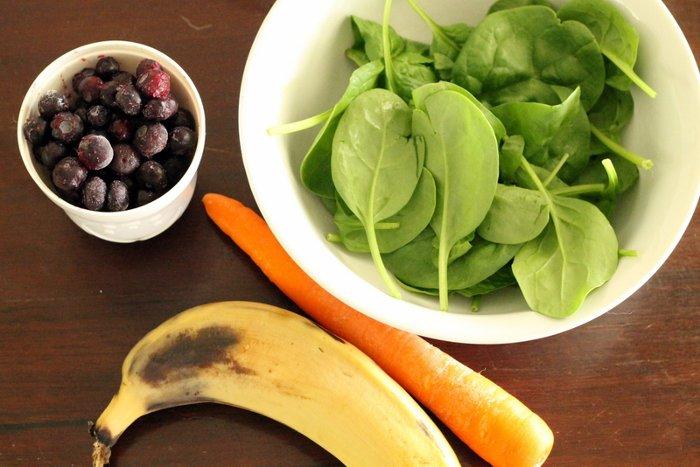 Рецепт из шпината и моркови для похудения