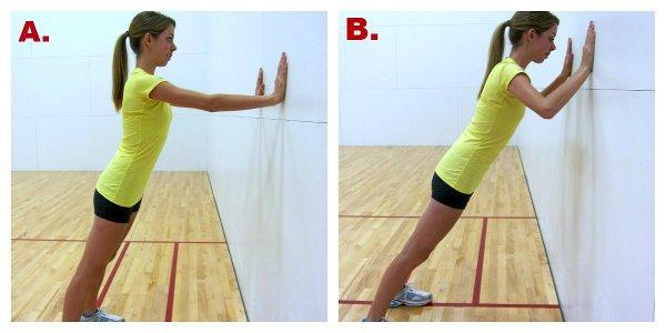 упражнения для упругой груди - отжимания у стены