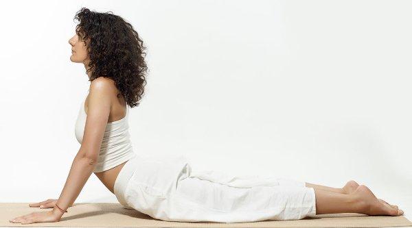упражнения для упругой груди поза кобры