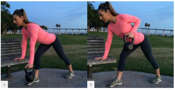 Красивое тело за 20 минут в день: упражнения с гирей дома (фото.