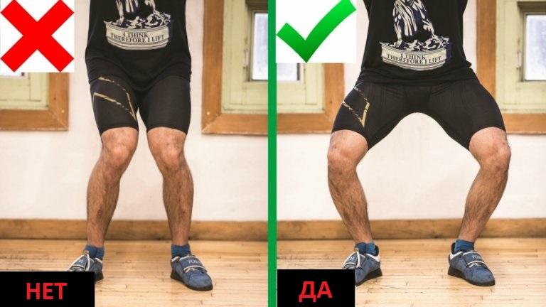Движение коленей