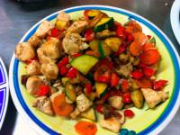 Как приготовить куриное филе на сковороде с овощами