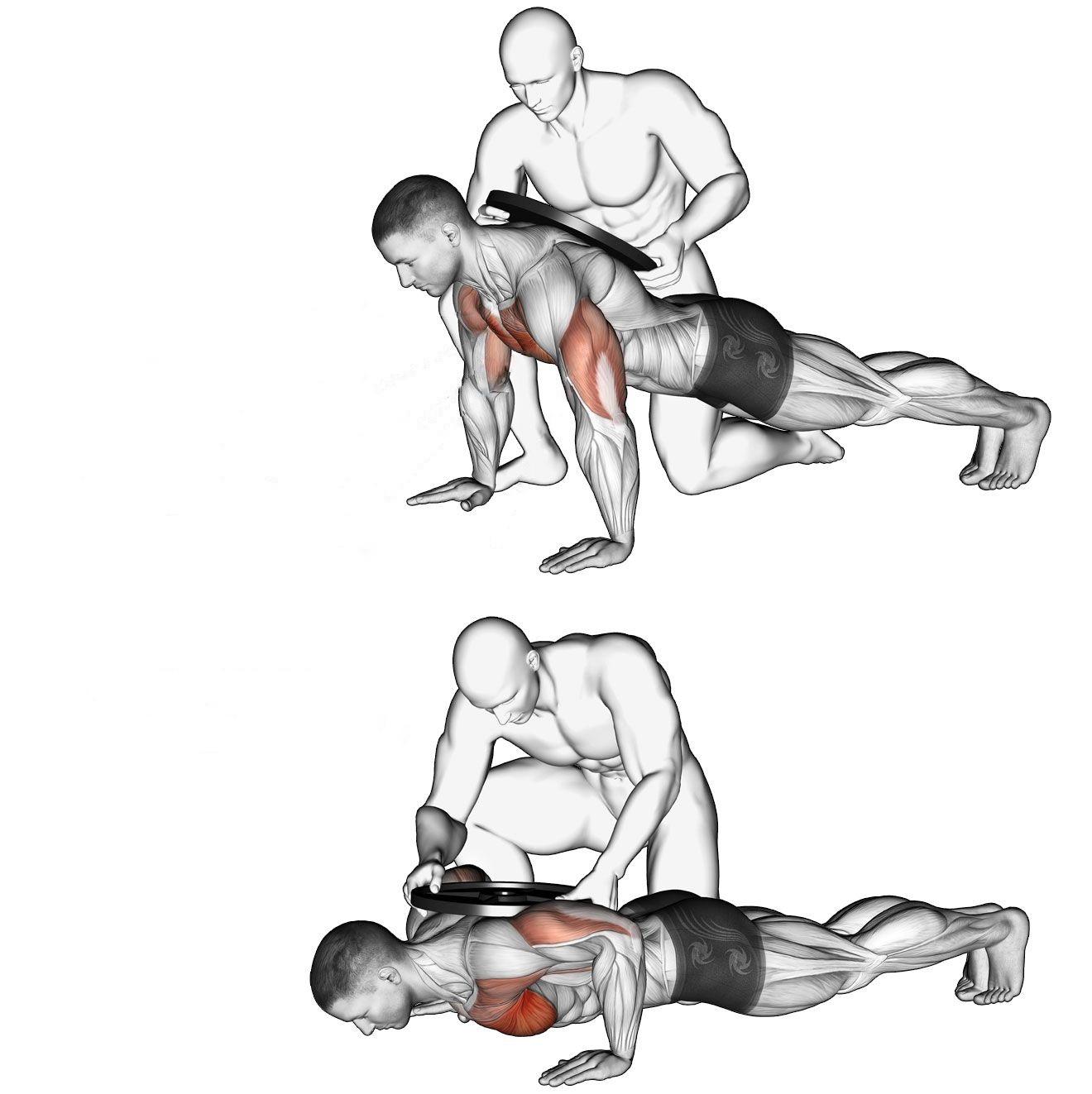 С дополнительным весом на спине